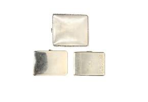 Lot of three cigarette cases, english silver, Sheffield, 20th century