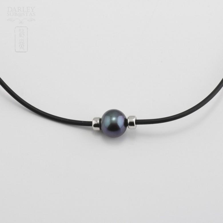 925银配黑珍珠项链 - 2