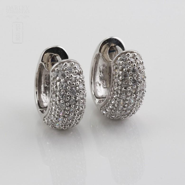 Zircons Earrings in sterling silver, 925m / m