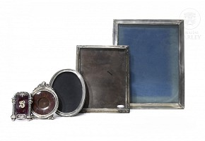 Lot of silver frames, 20th century