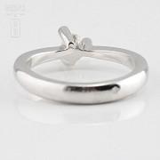 18k白金镶 0.16 克拉鑽石戒指 - 2