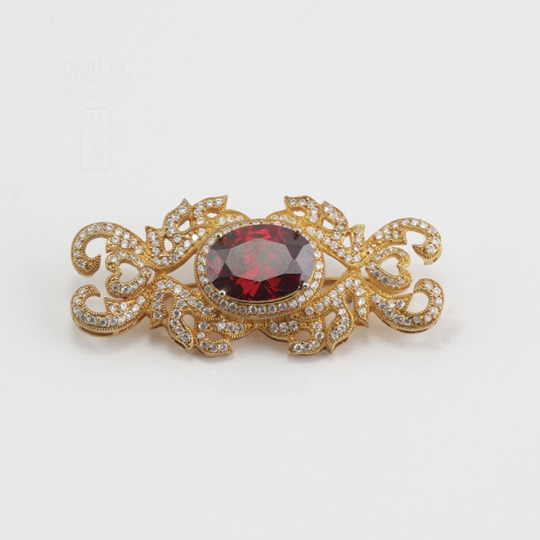 Faller dressing Ruby red and gold - 6