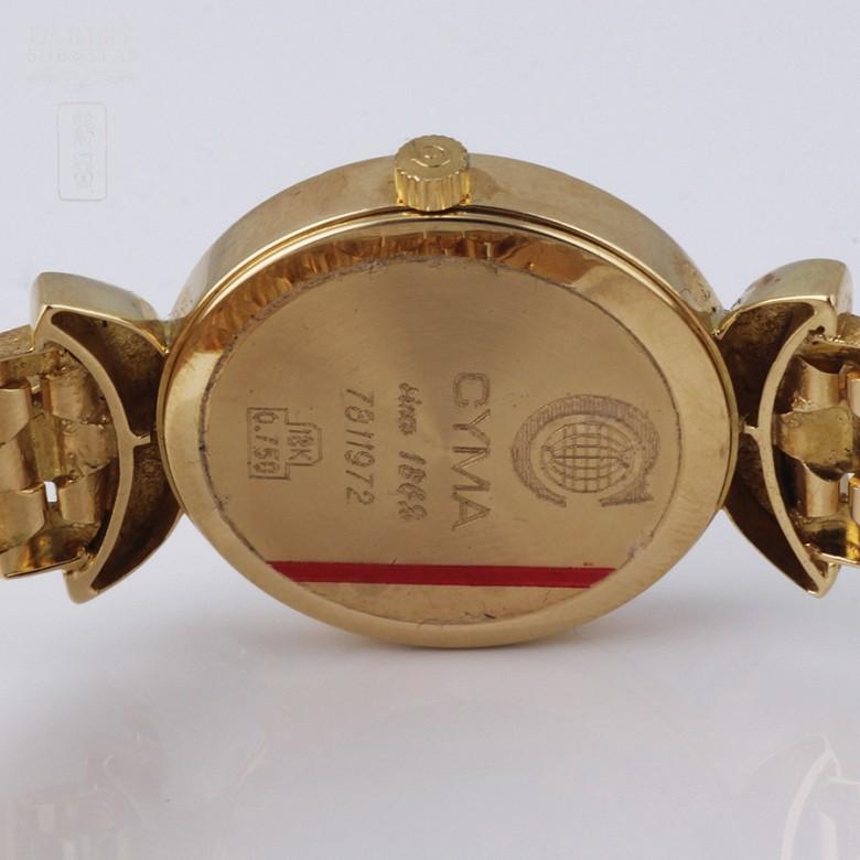 Cyma Lady Gold Watch with 70 Diamonds (new) - 2