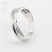18k白金镶 0.14  克拉鑽石戒指 - 2