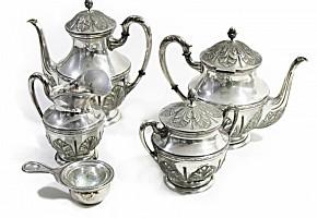 Silver tea set, 20th century