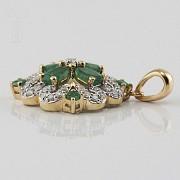 Fantástico colgante esmeraldas y diamantes - 2