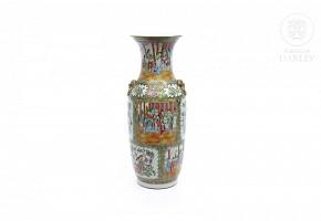 Jarrón de porcelana cantonesa, s.XX