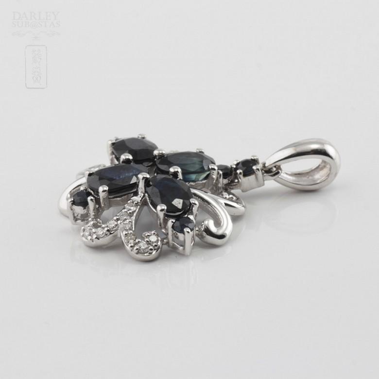 Great pendant sapphires and diamonds - 2