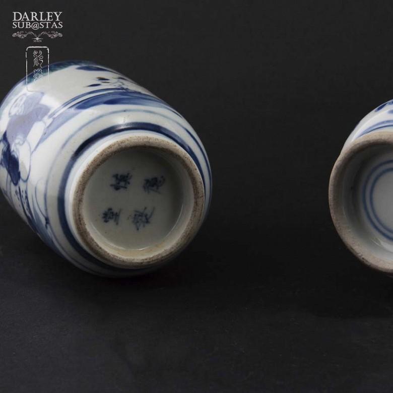 Pareja de jarrones de porcelana china, S.XIX - 4