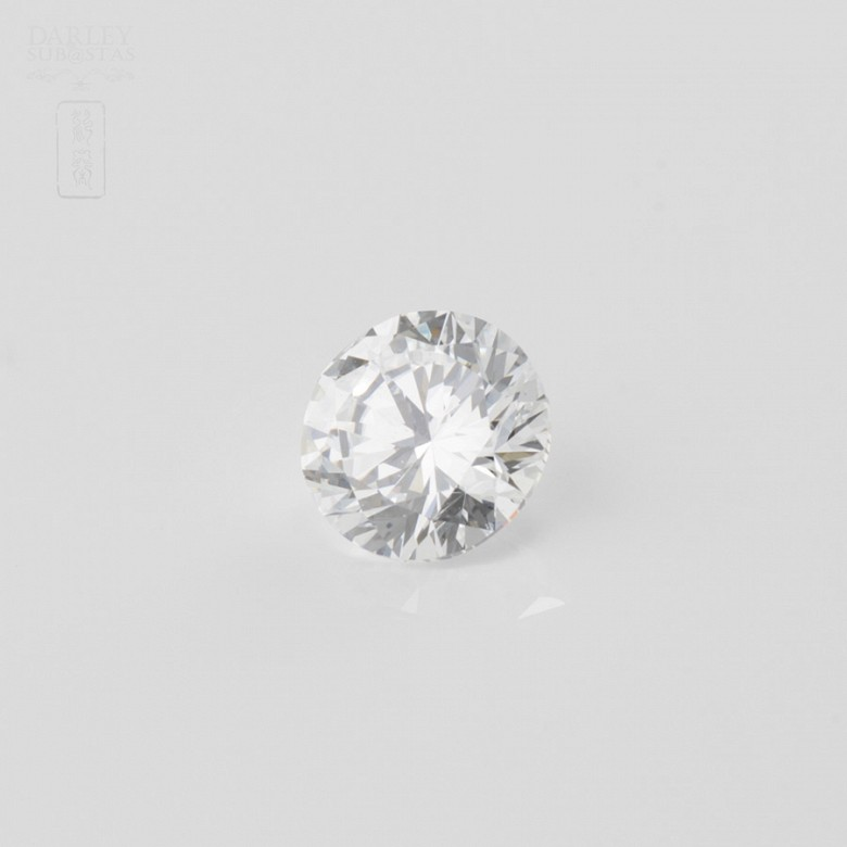 Diamante natural, talla brillante,de peso  1.51 cts,