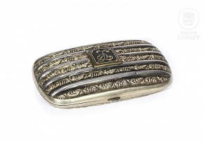 Spanish silver cigarette case, 20th century