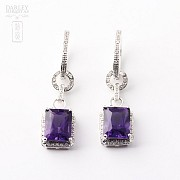 largosde 18k  with  amethyst 5.97 cts earrings and  diamonds - 3