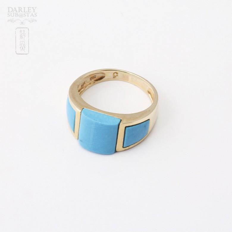 Natural Turquoise Ring 18k - 2