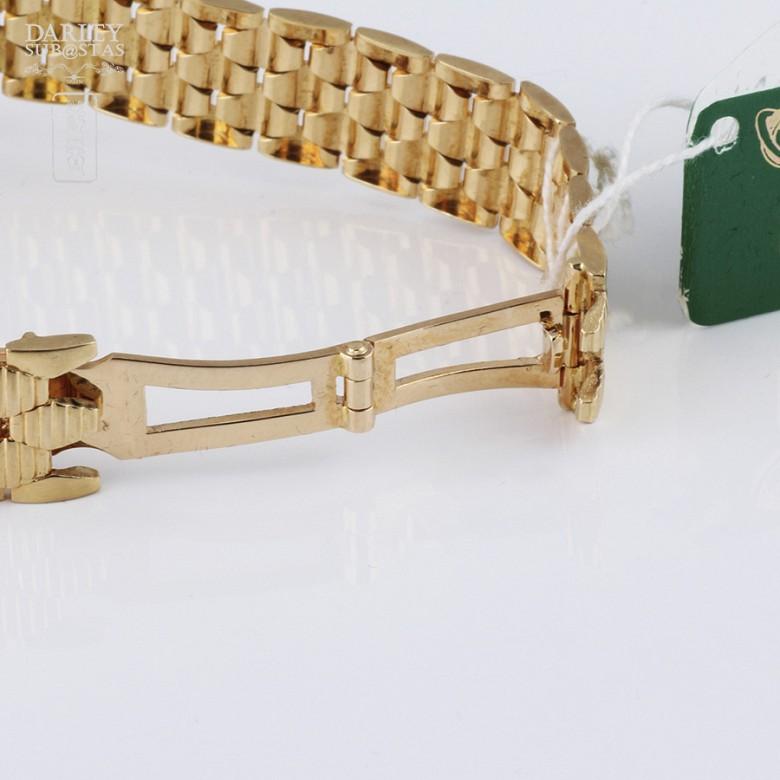 Cyma Lady Gold Watch with 70 Diamonds (new) - 3
