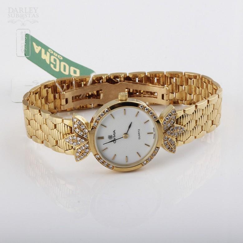 Cyma Lady Gold Watch with 70 Diamonds (new) - 1