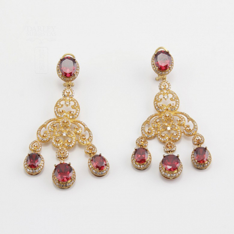 Faller dressing Ruby red and gold - 8