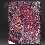 Kashmir rug is hand-knotted - 1
