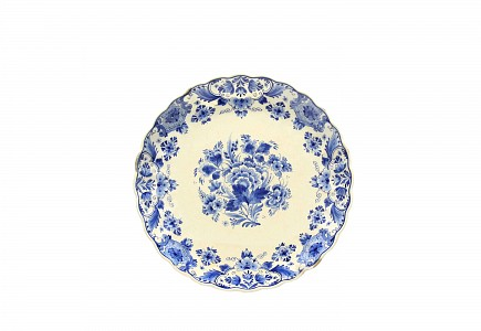 Plato de ceramica de Delft s.XX