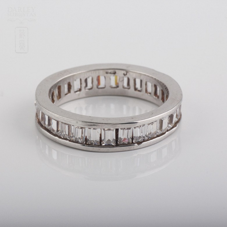 Ring with Zirconia in sterling silver, 925 - 1