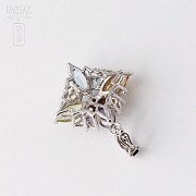 Pendant in 18k white gold with 5 colors mixo Total 5.24 cts - 3