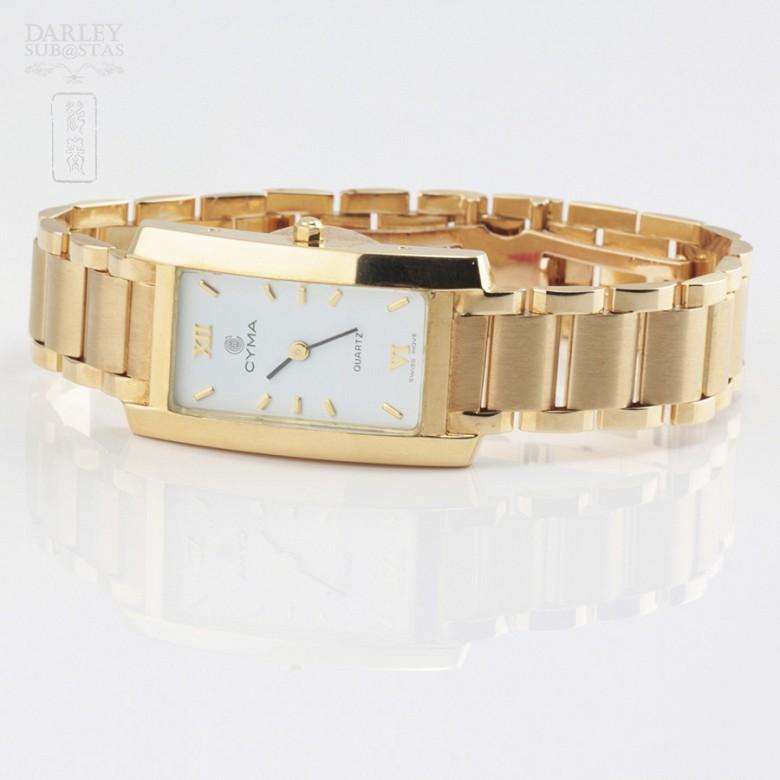Gold Swiss Watch Cyma - 1