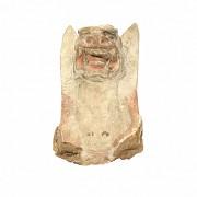 Rare Chinese Terracotta head Tomb Guardian