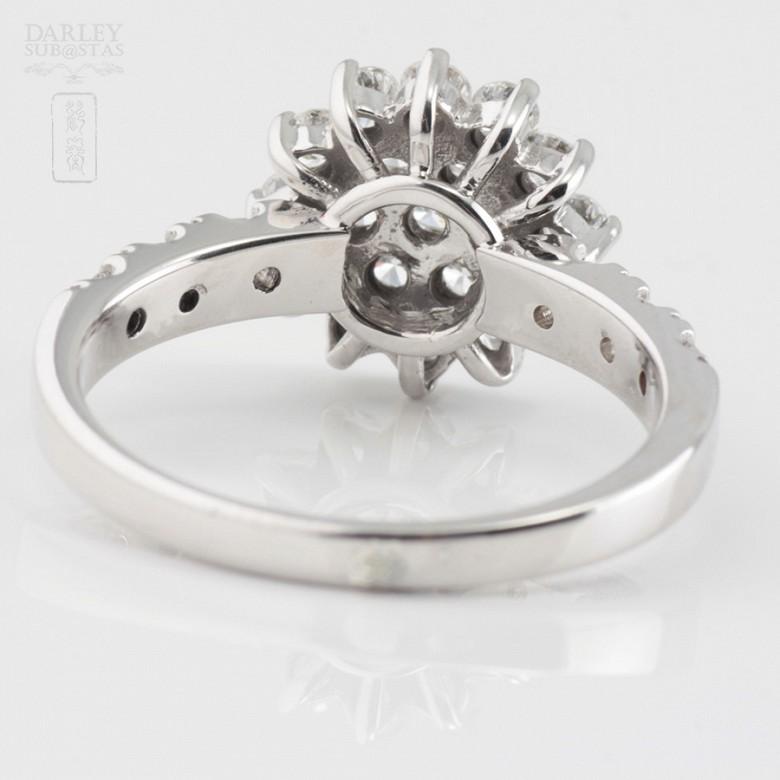 Fantástico anillo en oro blanco 18k y 1.18cts diamantes - 2