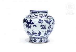 Vase with Ming style decoration.