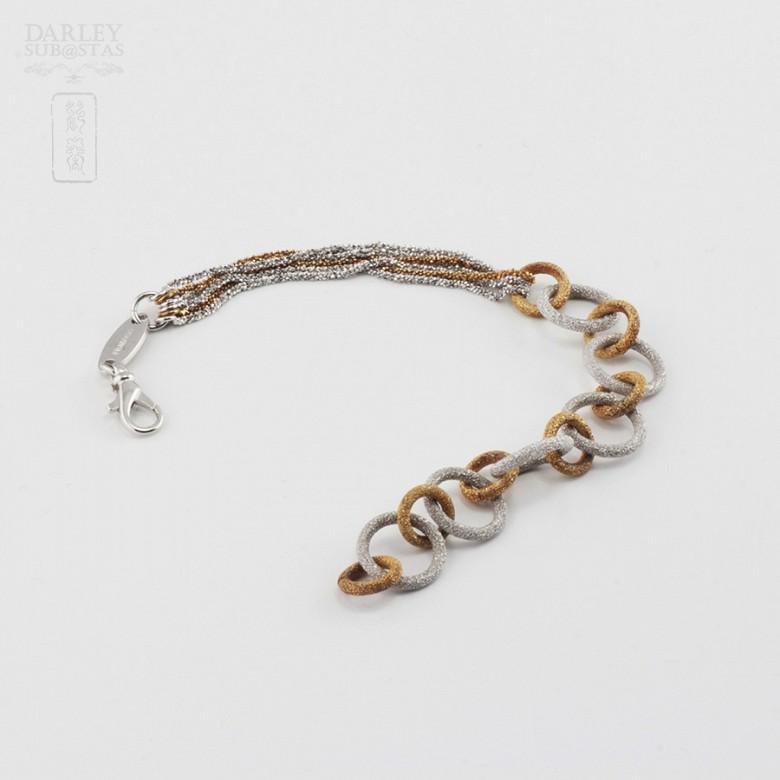 925雙色銀手链 - 3