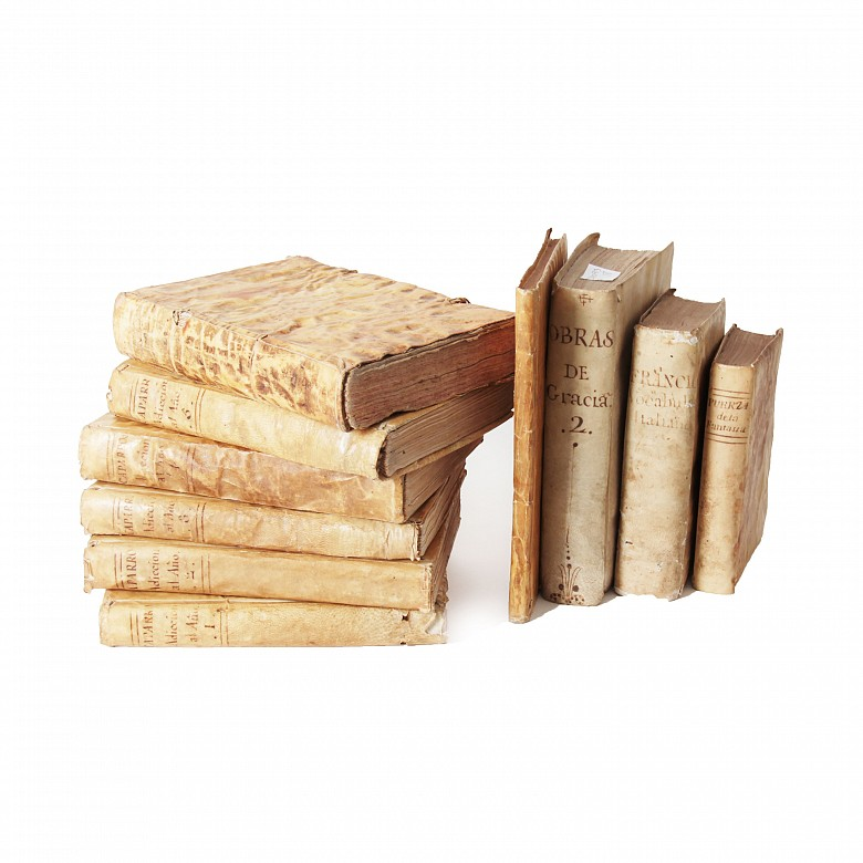 Lot of ten books printed between 1699 and 1793