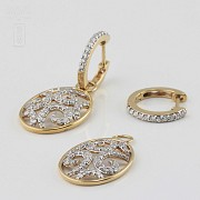 Preciosos pendientes con 1.01cts de diamantes - 1