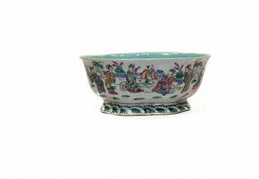 Cuenco de cerámica esmaltada familia rosa, Cantón, s.XX