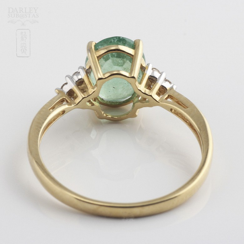 Ring emerald  1.78cts and diamond 18k yellow gold - 2