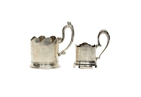 Pair of cup holders, middle 20th century.