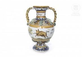 Glazed Talavera ceramic vase, 20th century