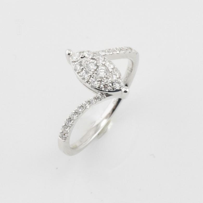 Beautiful ring white gold and diamonds 0.50cts - 3