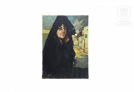 "Escuela española ffs.s.XIX ""Retrato"""