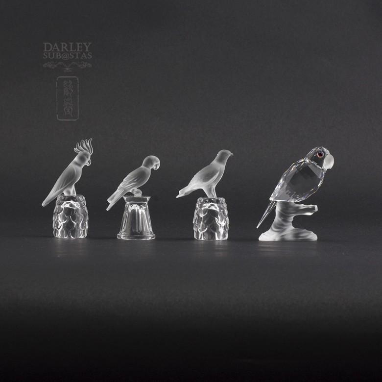 Set of four figures of birds in Swarovski Crystal - 7