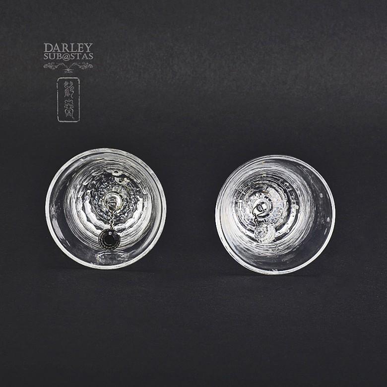 Set of two figures in Swarovski crystal, two bells - 1