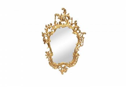 Espejo tallado de madera torneada, estilo Rococó, S.XIX