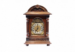 Wooden table clock, early 20th century