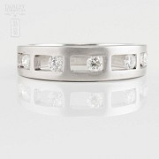 Original ring 18k white gold and diamonds 0.35cts - 2