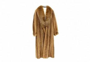 Red fox fur coat.
