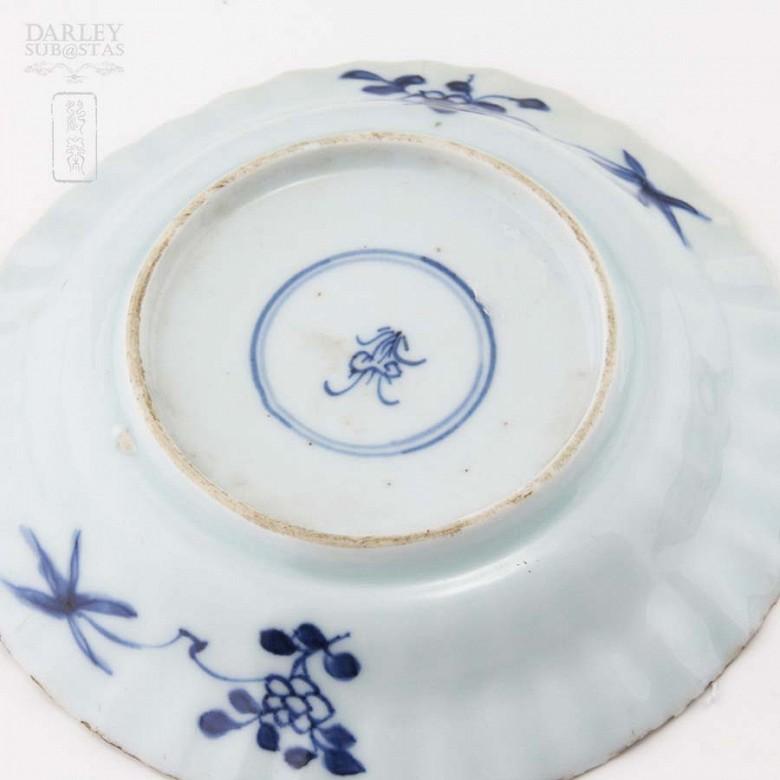 清十八世纪 青花瓷盆 一对 - 4
