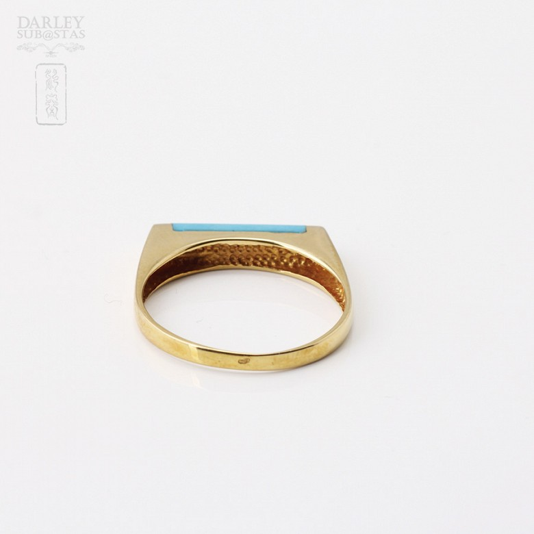 18K黄金戒指镶松石 - 2
