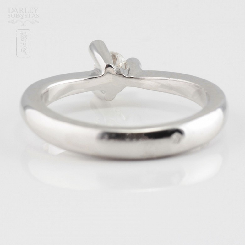 0.16cts Solitaire Diamond 18k White Gold - 2