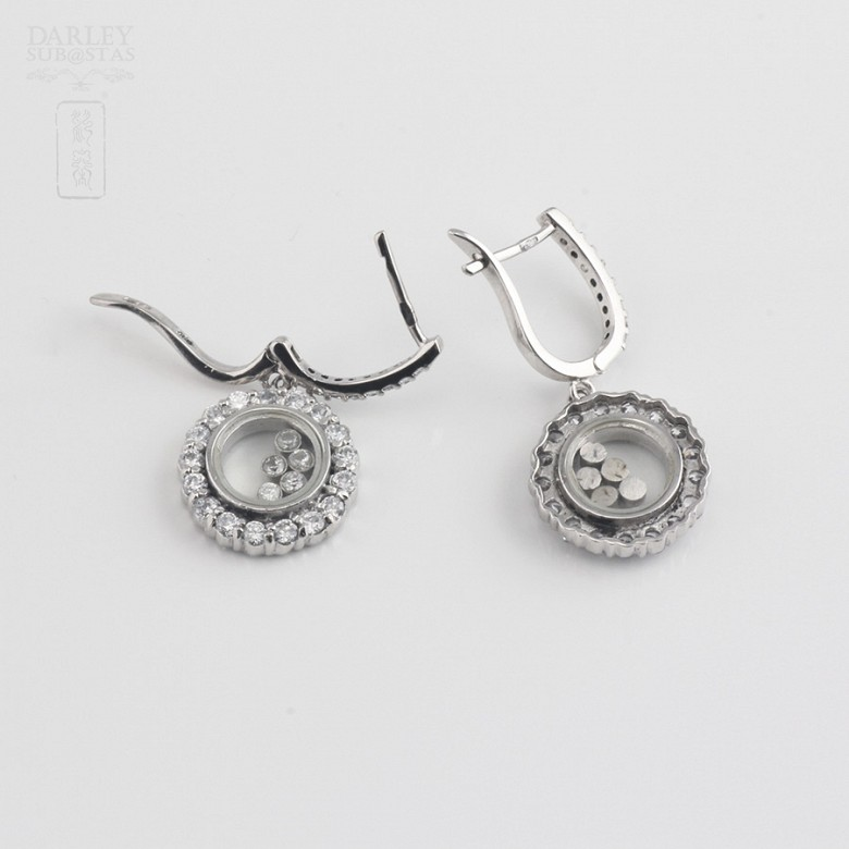 Silver earrings and cubic zirconia law - 3