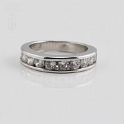 Ring in sterling silver, 925m / m, rhodium zirconia - 2