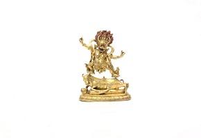 Escultura de bronce dorado