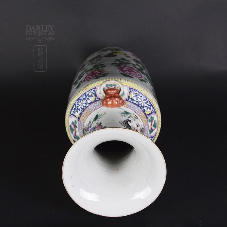 Gran jarrón de porcelana china siglo XIX. - 4